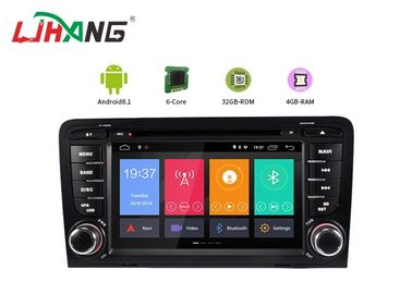 4 + 32G Audi Android Dvd Player Mobil Built-In GPS Dengan BT GPS DVR Mirror Link